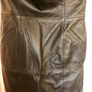 Faux leather Sexy dress